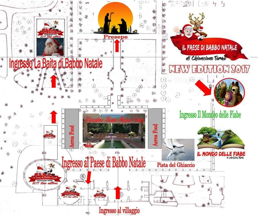 La mappa il paese di babbo natale a chianciano terme for Casa di cura santa maria del pozzo