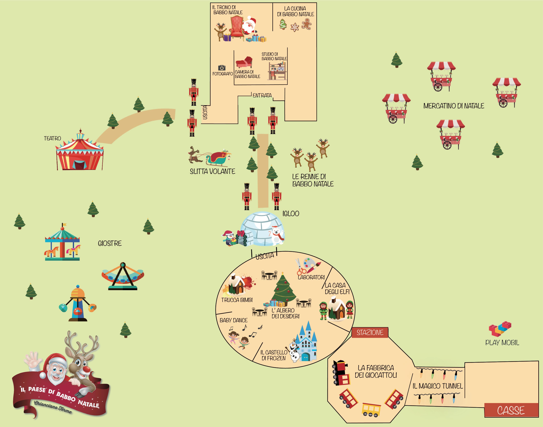 Mappa Paese di Babbo Natale a Chianciano Terme